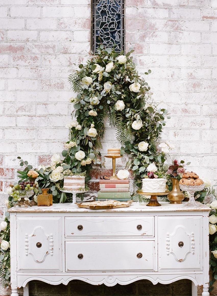 Elegant Wedding Dessert Table // Photography ~ Rebecca Yale Photography