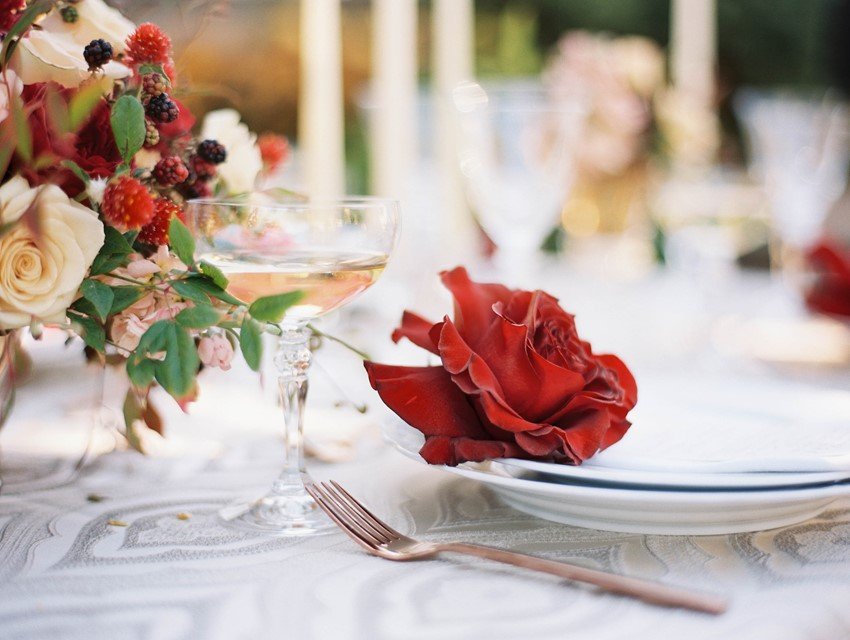 Fall Garden Wedding Place Setting // Photography ~ Kristin La Voie Photography