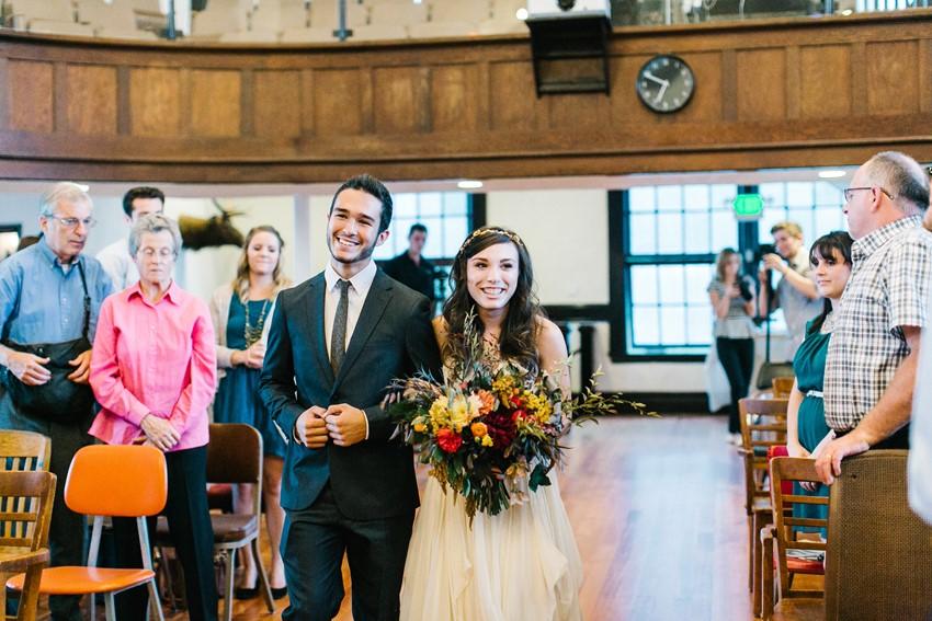 Bride & Brother Walking Down the Aisle // Photography ~ Maria Lamb