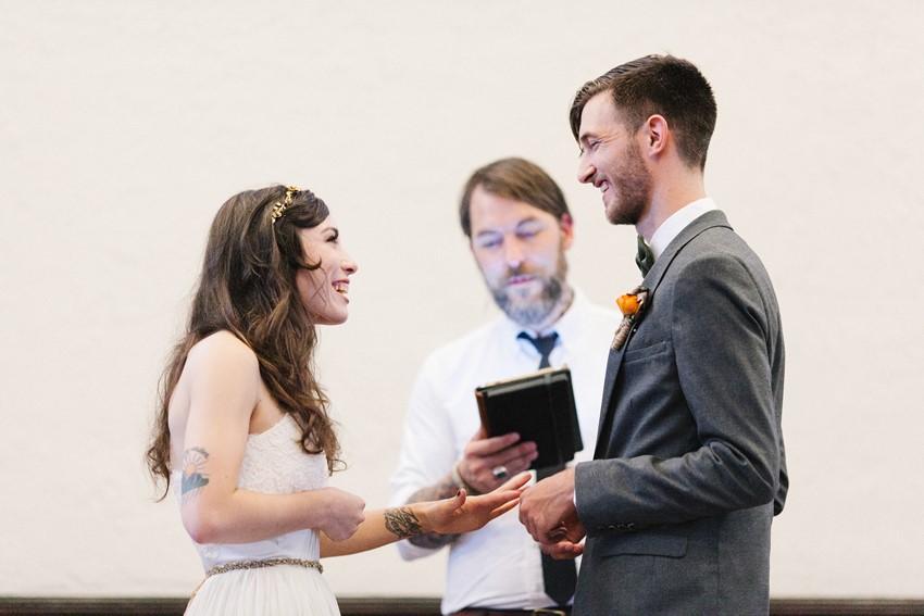 Sweet Church Wedding Ceremony // Photography ~ Maria Lamb