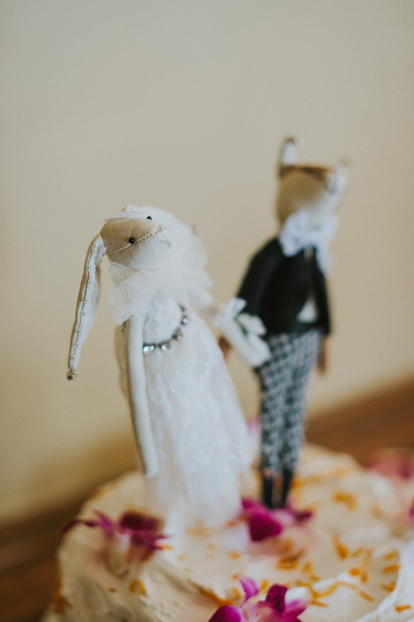 Whimsical Wedding Cake Topper // Photography ~ Anna Page Photography