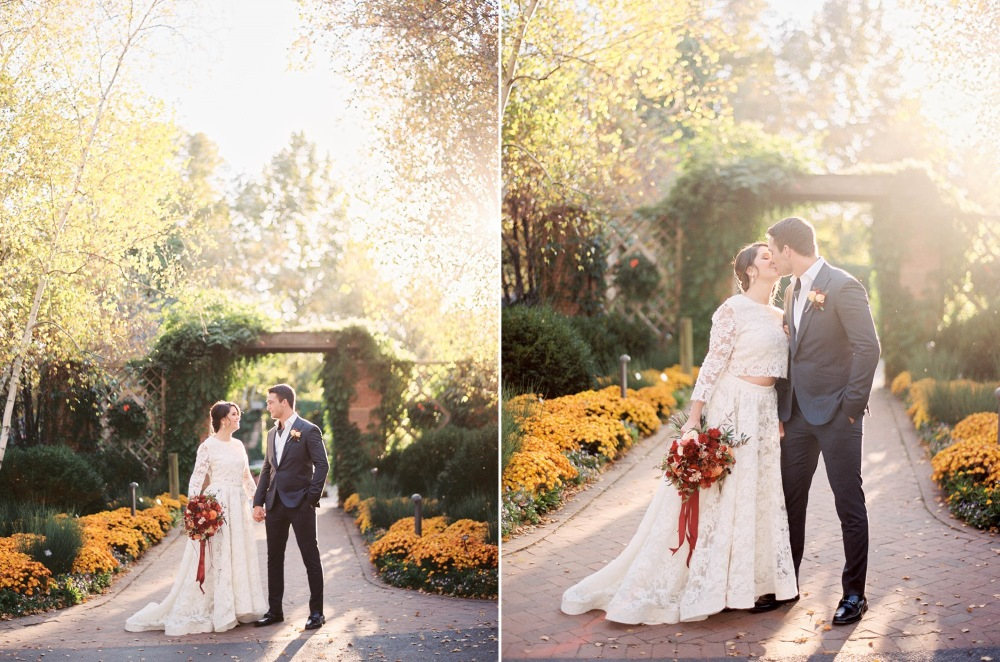 Modern Vintage Fall Bride & Groom // Photography ~ Kristin La Voie Photography