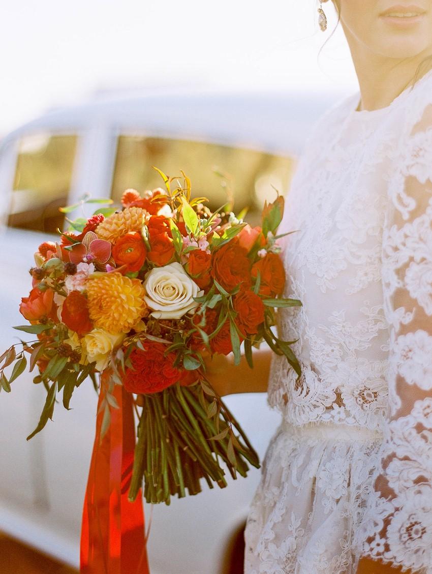 Romantic Fall Bridal Bouquet // Photography ~ Kristin La Voie Photography
