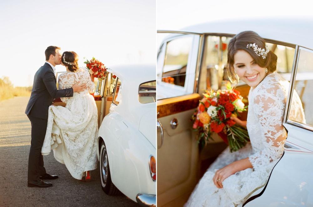 Fall Wedding Vintage Getaway Car // Photography ~ Kristin La Voie Photography