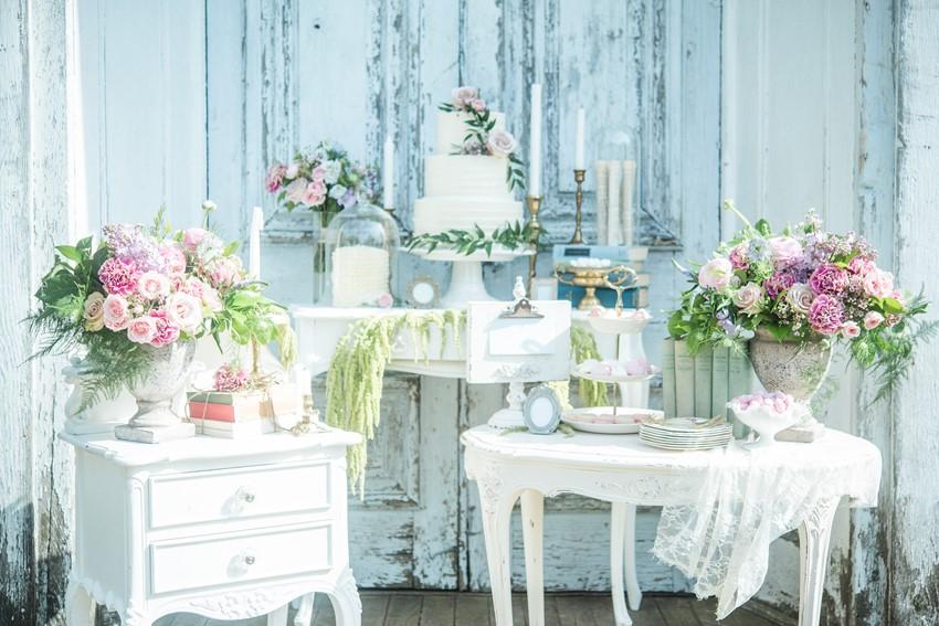 Sweet Vintage Wedding Cake Table // Photography ~ Injoy Imagery