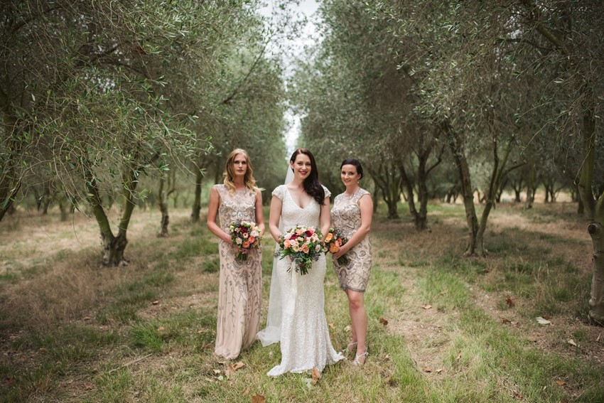 Vintage Inspired Bride & Bridesmaids in Blush // Photography ~ Meredith Lord Photography