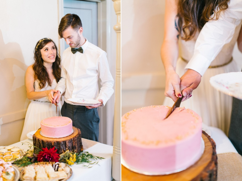 Vegan Wedding Cake // Photography ~ Maria Lamb