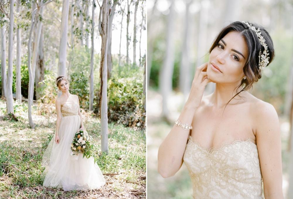 Elegant Gold Bridesmaids Dresses // Photography ~ Rebecca Yale Photography