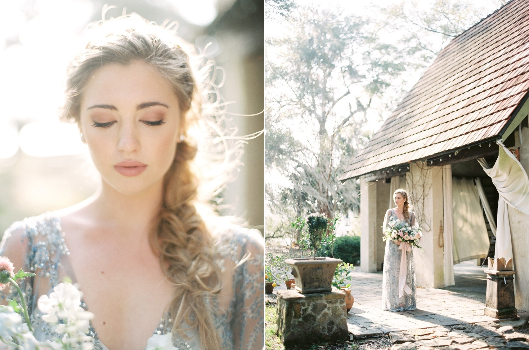 Blue Wedding Dress \\ Photography - Charla Storey