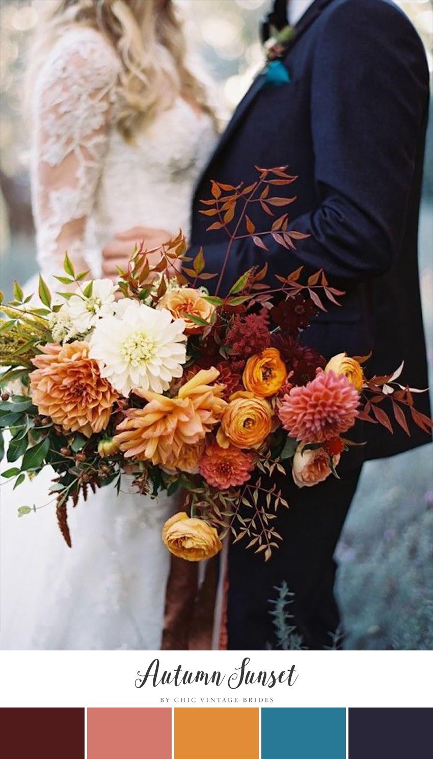 10 Stunning Autumn Wedding Colour Palettes - Chic Vintage ...