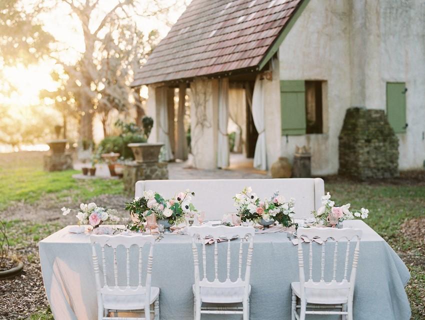 Romantic Intimate Wedding Tablescape \\ Photography - Charla Storey