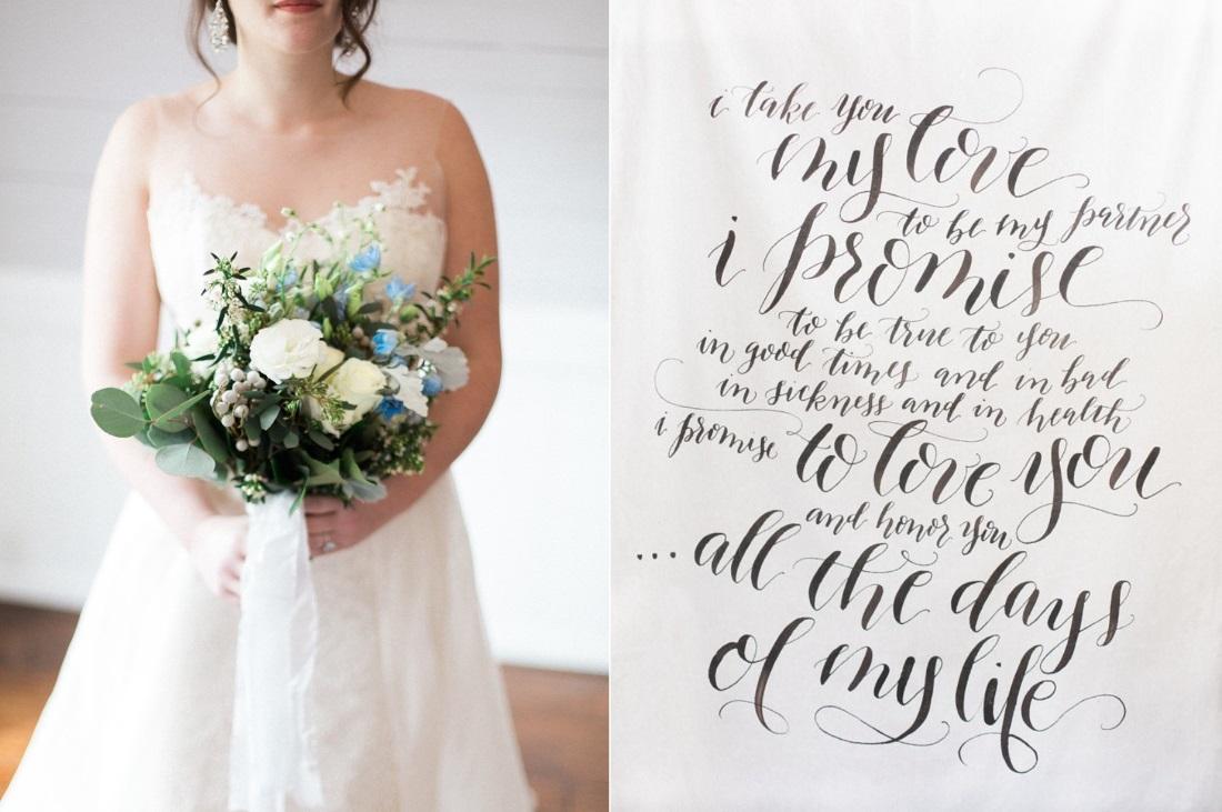 Blue Bridal Bouquet // Photography ~ Live View Studios