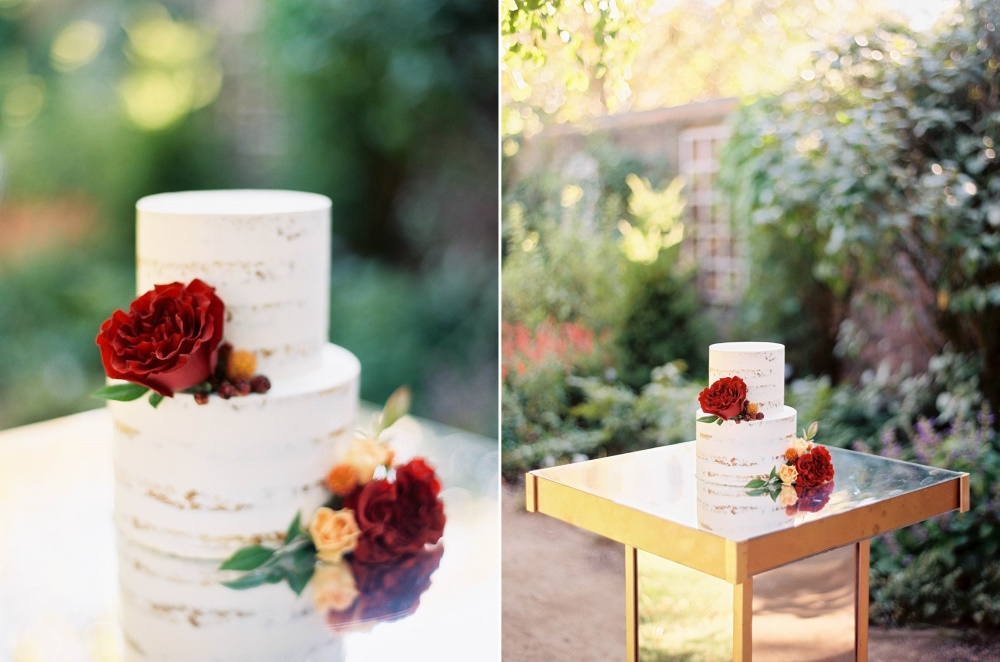 Autumn Naked Wedding Cake // Photography ~ Kristin La Voie Photography