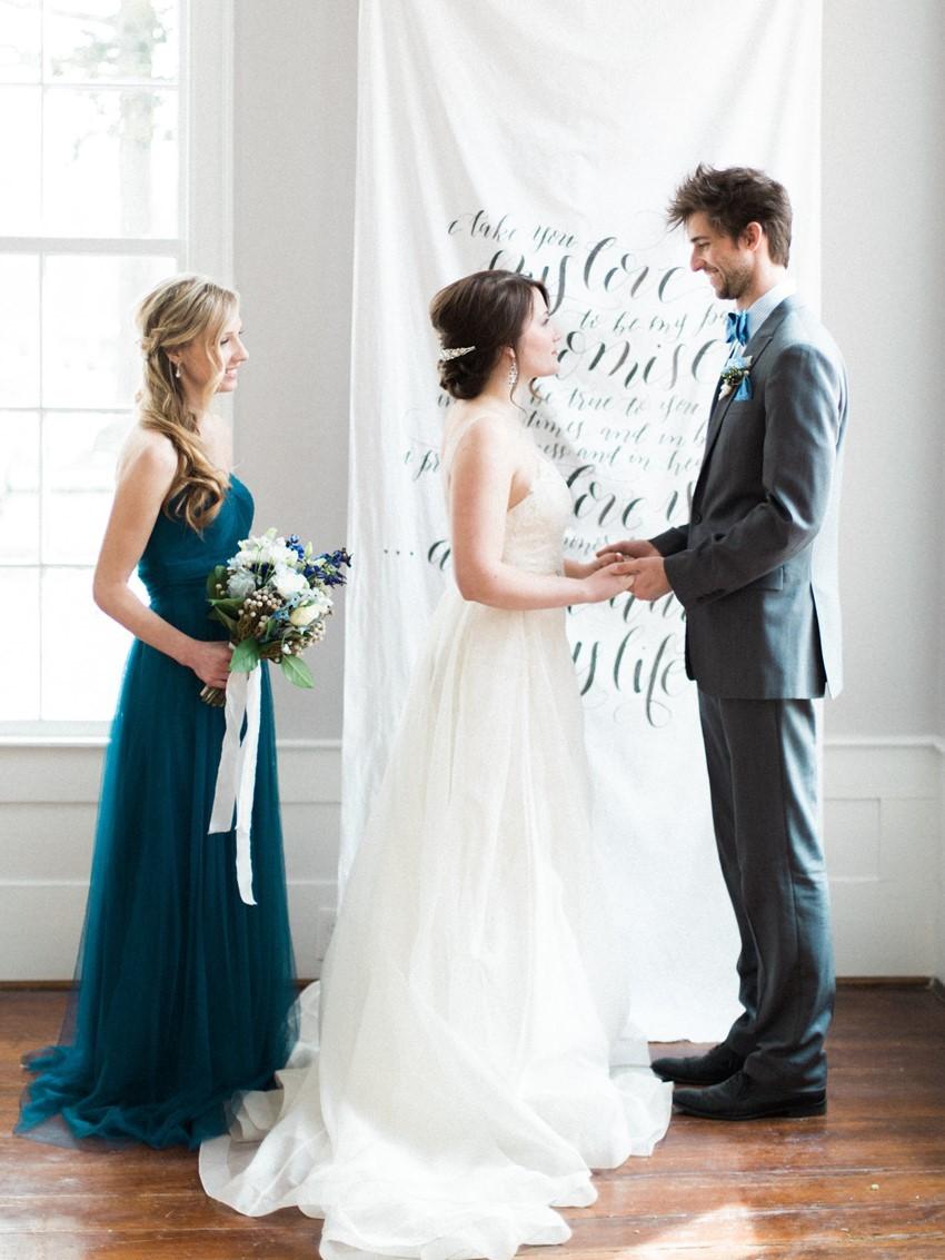 Painted Lyrics Wedding Backdrop // Photography ~ Live View Studios