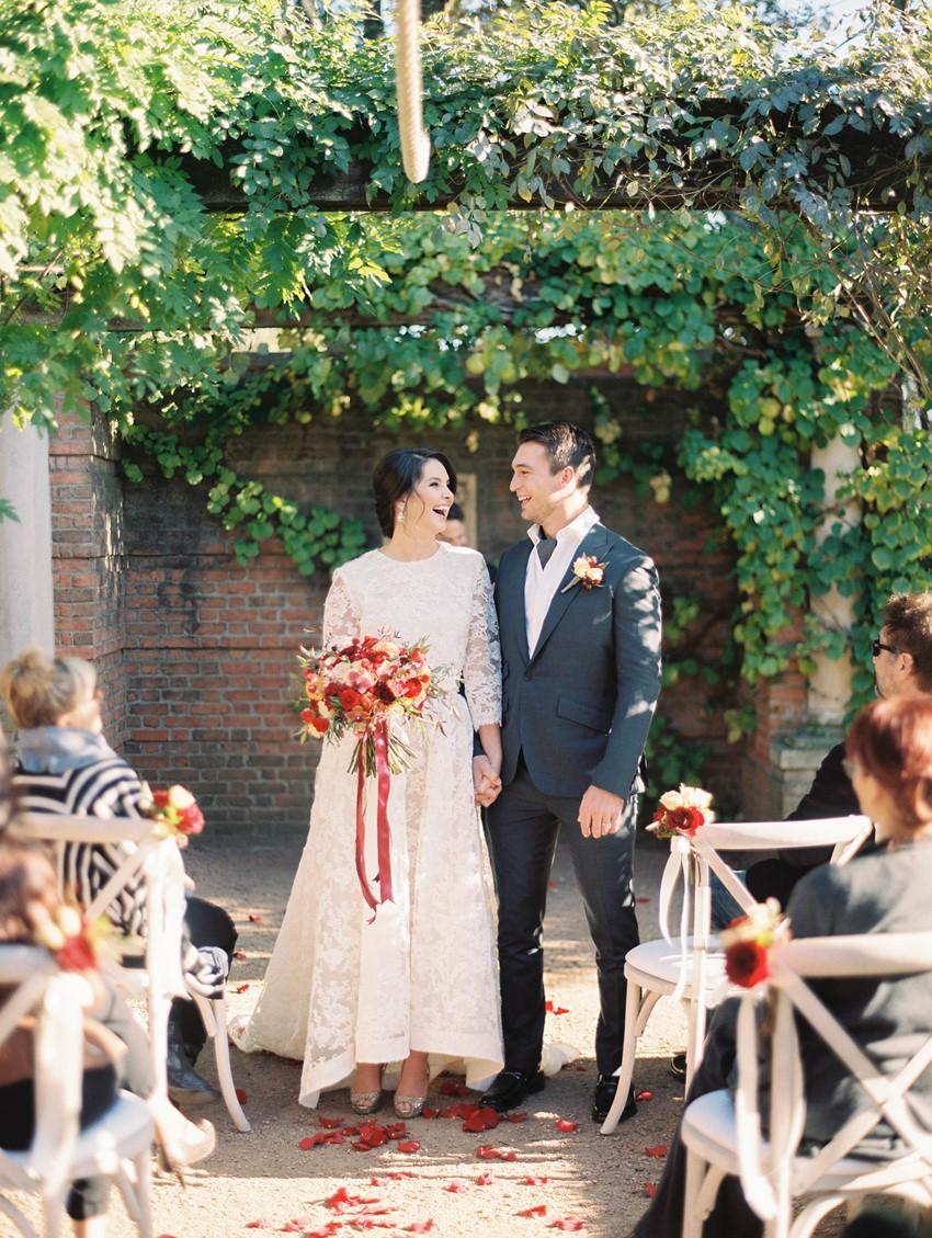 Intimate Outdoor Wedding Ceremony // Photography ~ Kristin La Voie Photography