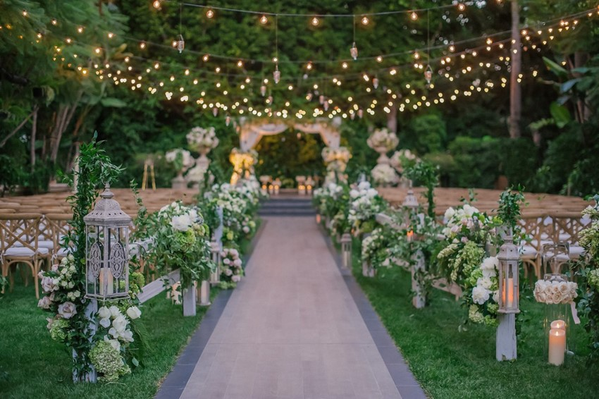 Beautiful Wedding Ceremony Lighting