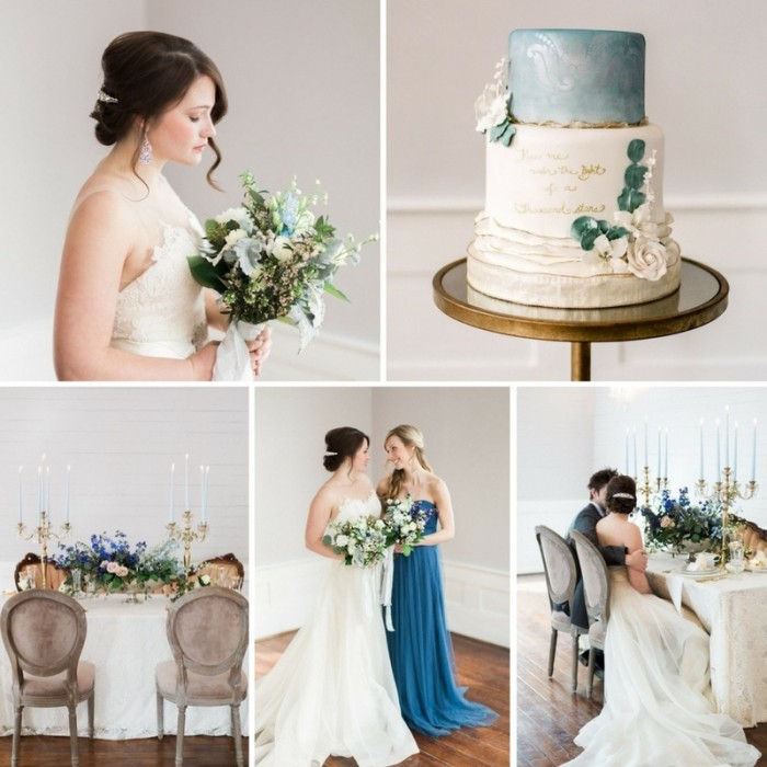 Romantic Blue & Blush Wedding Inspiration