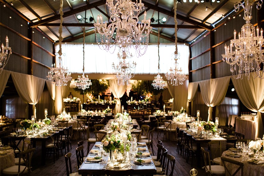 Elegant Wedding Reception Lighting