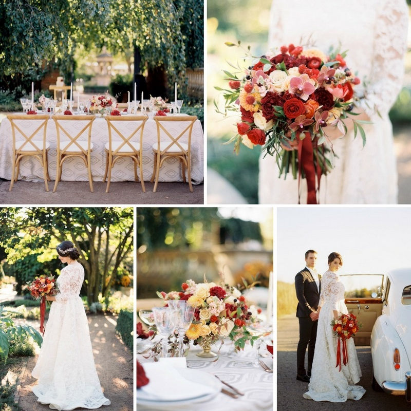 Modern Vintage Fall Botanic Garden Wedding