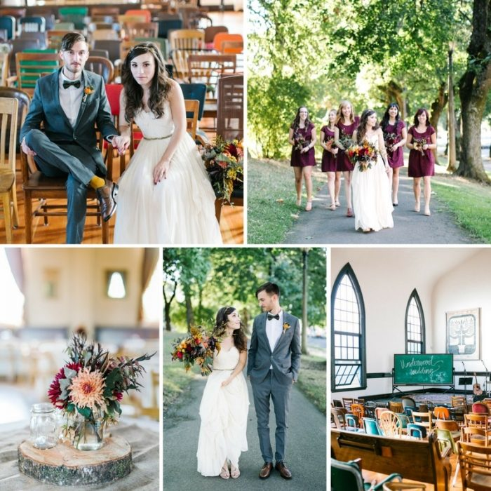 A Sweet Vintage Inspired Fall Wedding // Photography ~ Maria Lamb