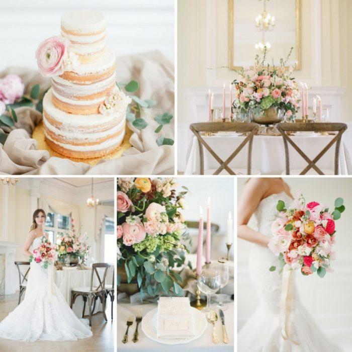 Vintage Blush & Gold Wedding Inspiration // Photography ~ Artiese Studios || Blush Weddings || Gold Weddings || Romantic Vintage Weddings