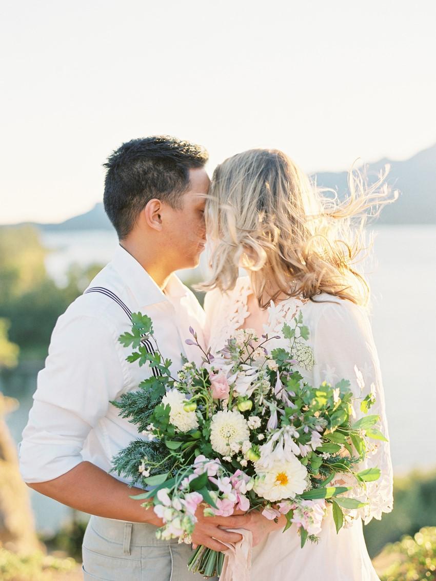 Romantic Rustic Vintage Lakeside Engagement Shoot