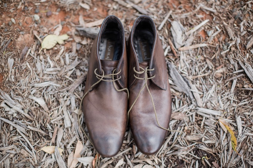 Rustic Vintage Groom's Shoes // Photography ~ Bless Photography