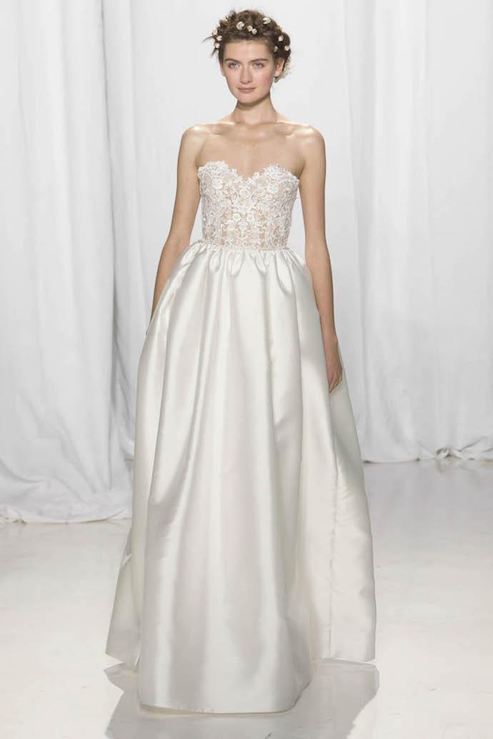 Elegant Strapless Wedding Dress from Reem Acra