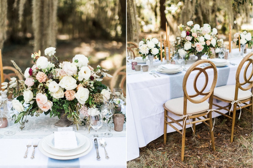 Romantic Wedding Tablescape // Photography ~ Eden Willow Photography
