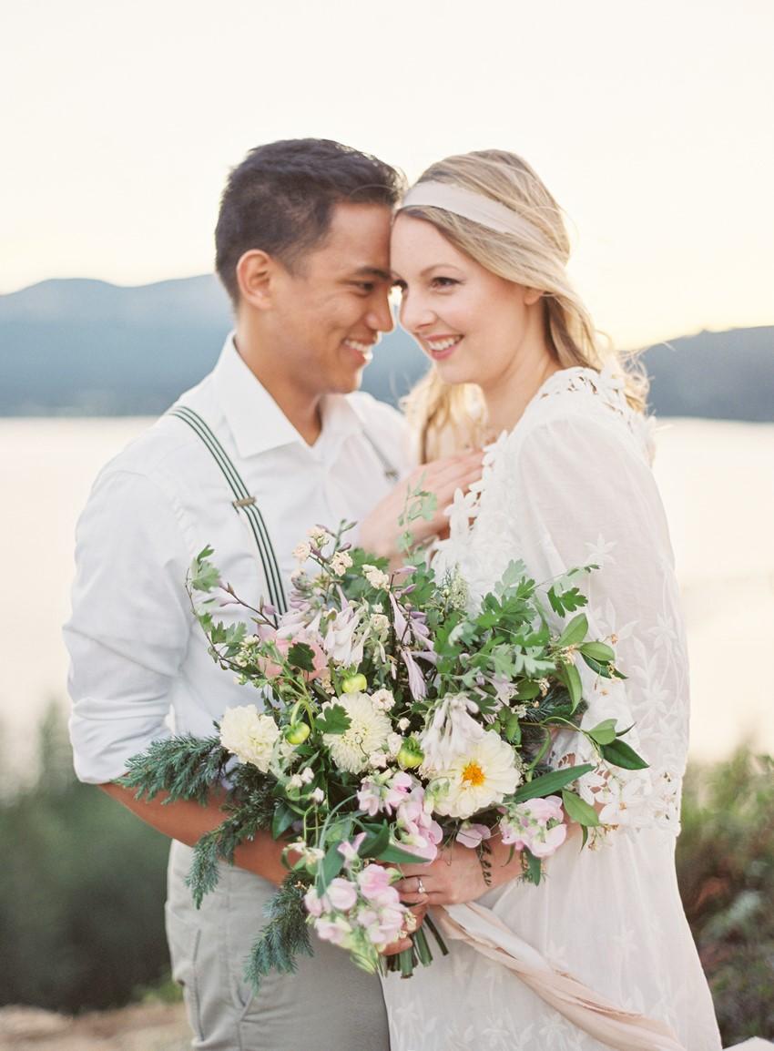 Romantic Lakeside Engagement Shoot