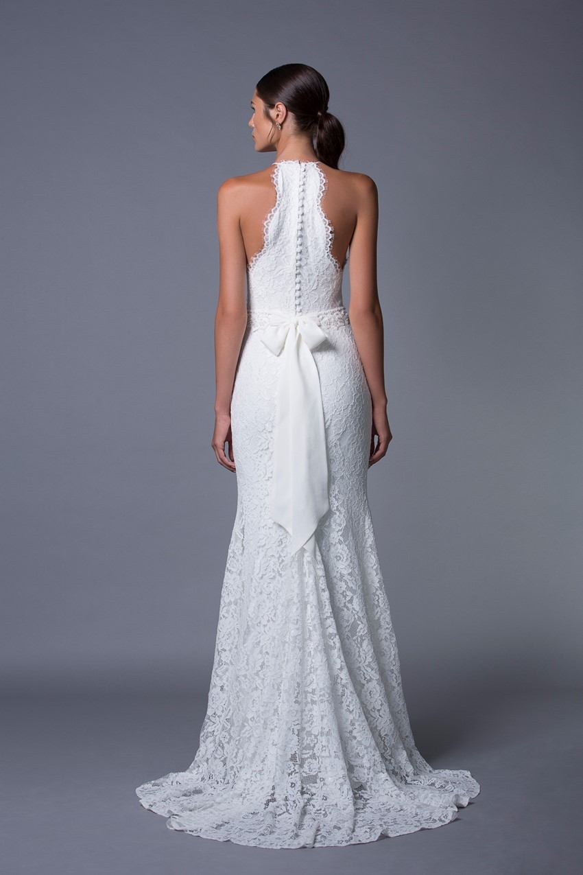 Lauren Halterneck Lace Wedding Dress from Lihi Hod's 2017 Collection
