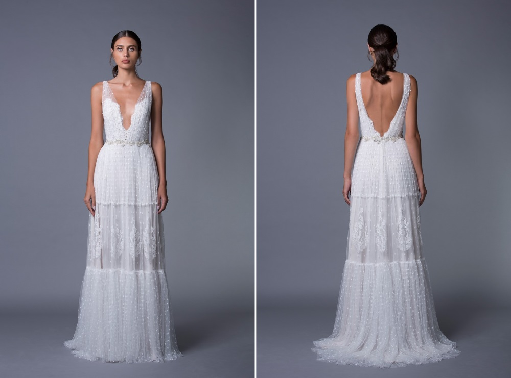 Sydney V Back Wedding Dress from Lihi Hod's 2017 Collection