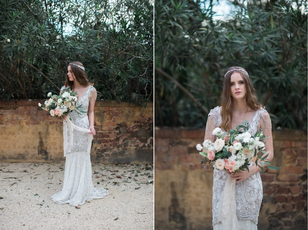Beautifully beaded bridal gown // Photography ~ White Images