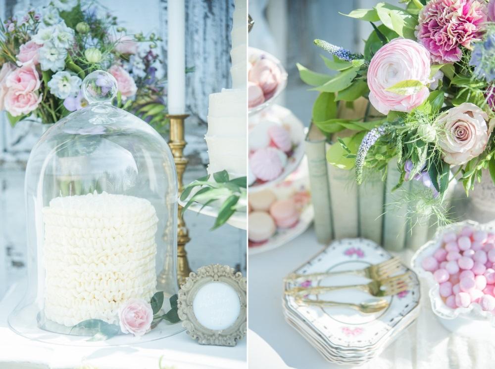Vintage Pastel Pink & Blue Wedding Decor // Photography ~ Injoy Imagery