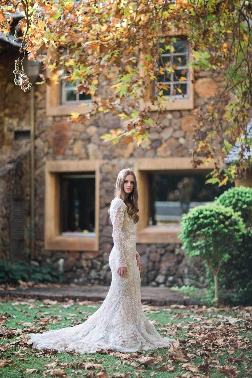 Beautifully Embellished Long Sleeve Wedding Dress // Photography ~ White Images