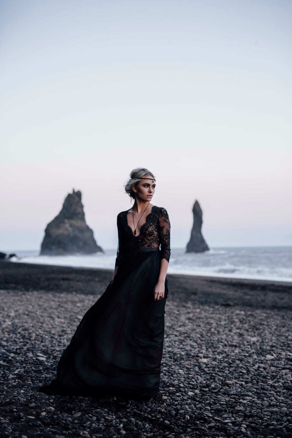 Boho Black Wedding Dress