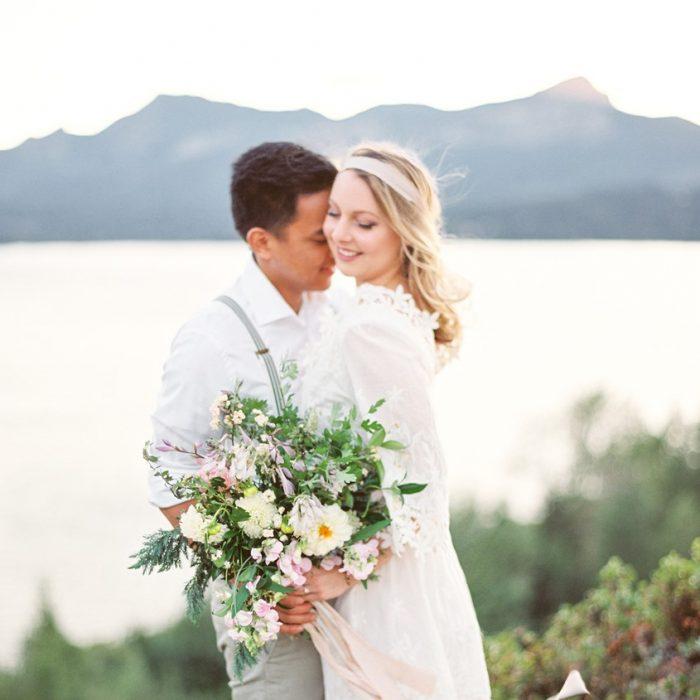 Beautiful Lakeside Engagement Session