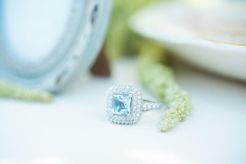 Stunning Blue Engagement Ring // Photography ~ Injoy Imagery