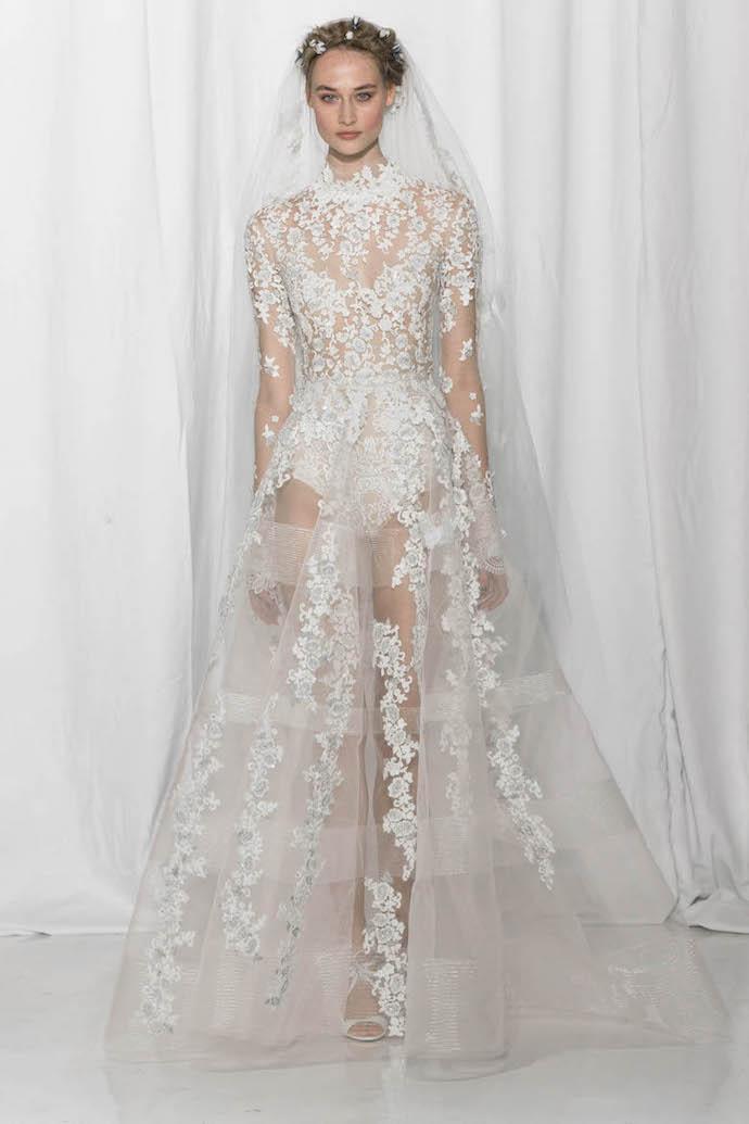 Stunning 'naked' wedding dress