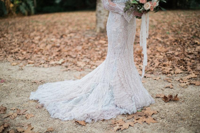 Beautifully embellished fishtail wedding dress // Photography ~ White Images