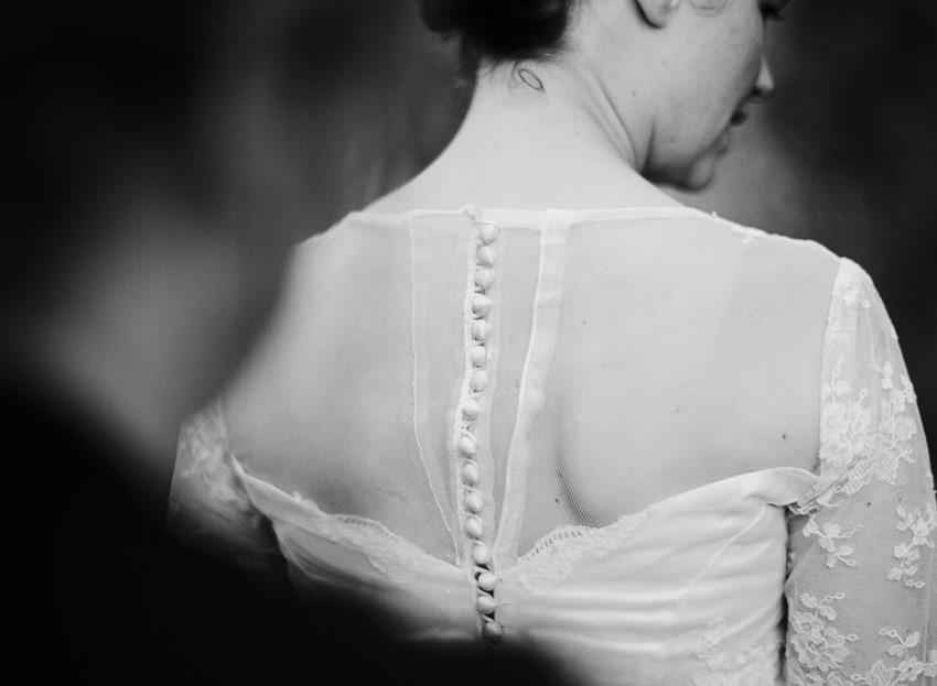Bride in Vintage Wedding Dress // Photography ~ Emily Steffen