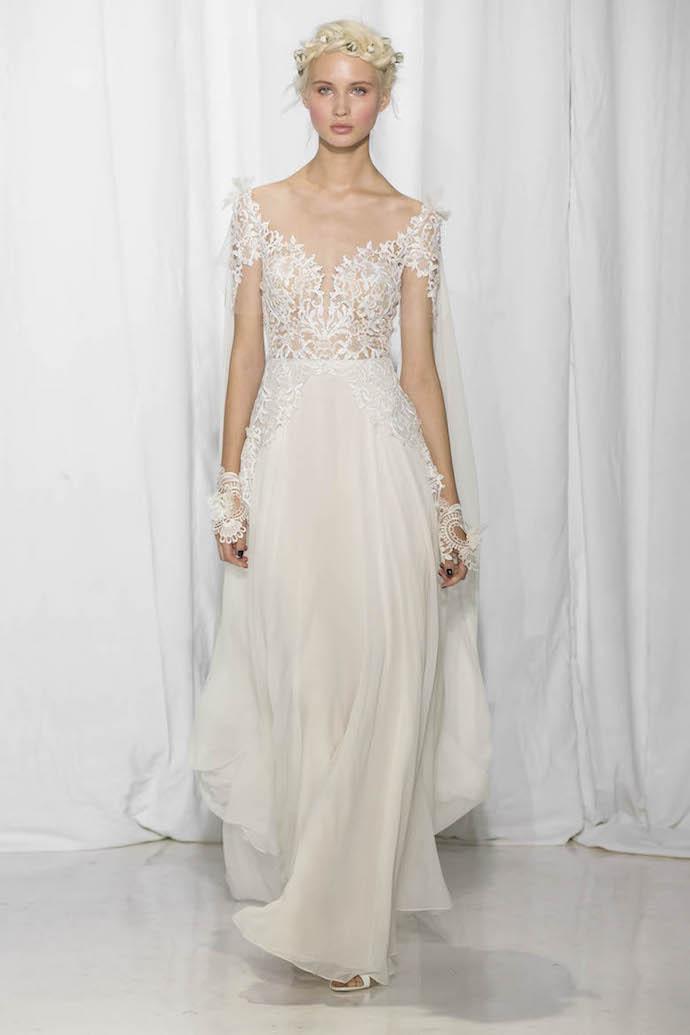 Lace Bodice Wedding Dress from Reem Acra