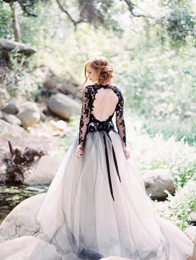 Black Blue Wedding Dress