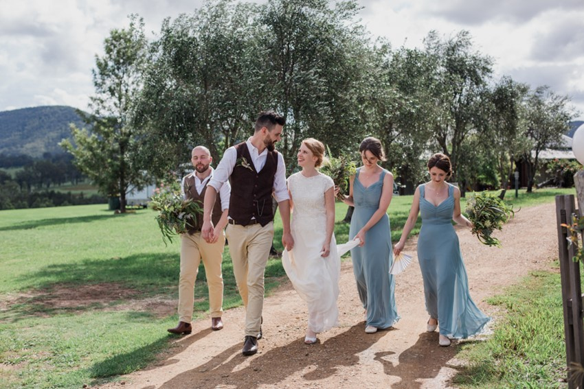 Rustic Vintage Bridal Party // Photography ~ Bless Photography