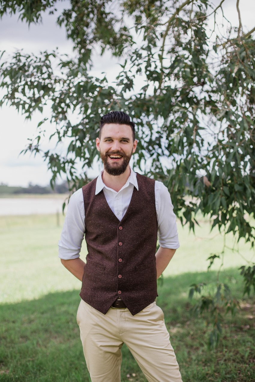 Rustic Vintage Groom // Photography ~ Bless Photography