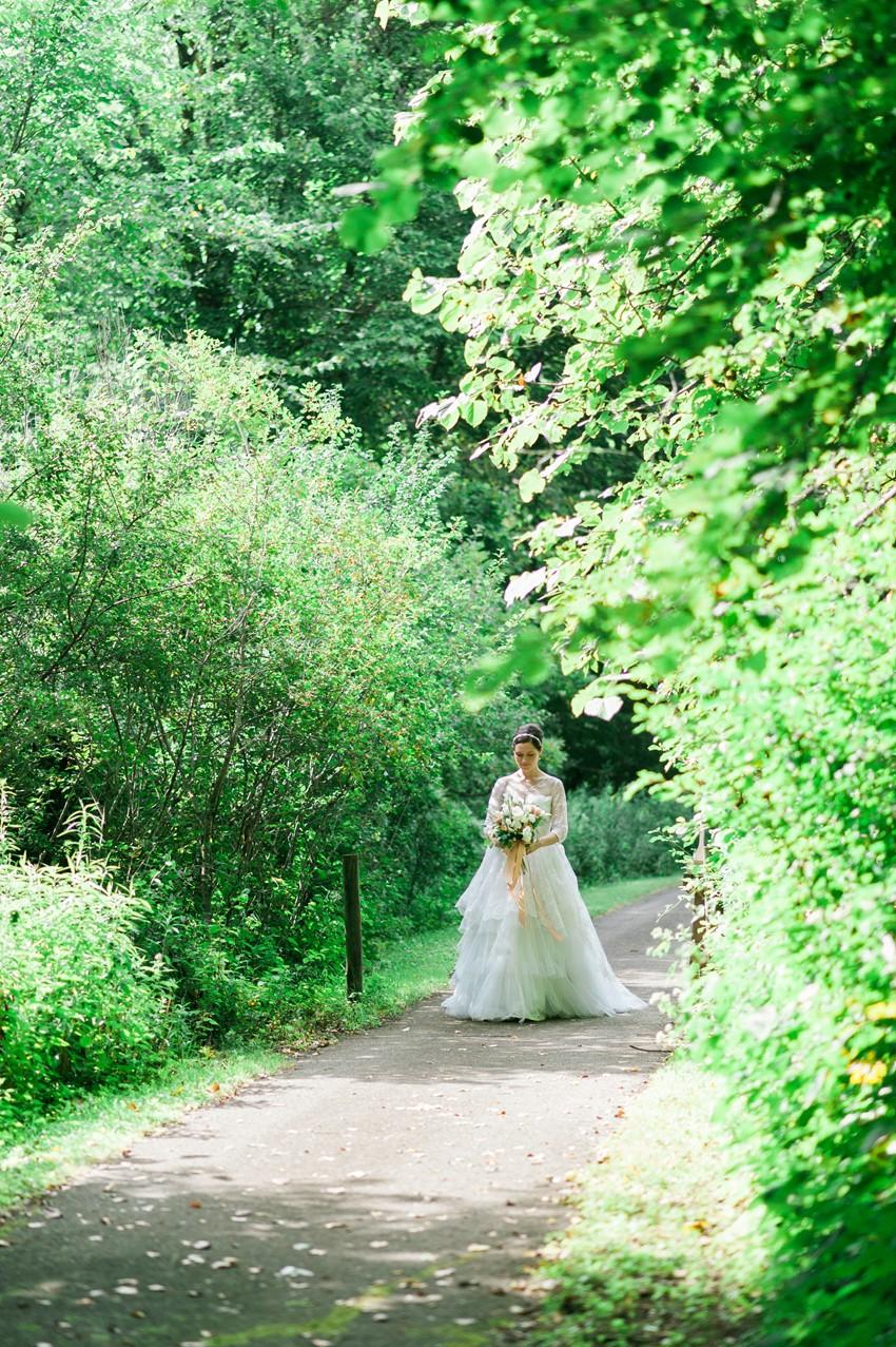 Bride's in her Grandma's Wedding Dress // Photography ~ Emily Steffen