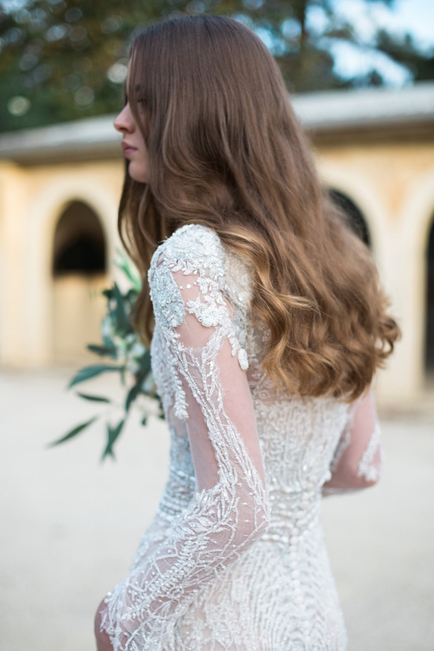 Beautiful Long Loose Bridal Hair // Photography ~ White Images