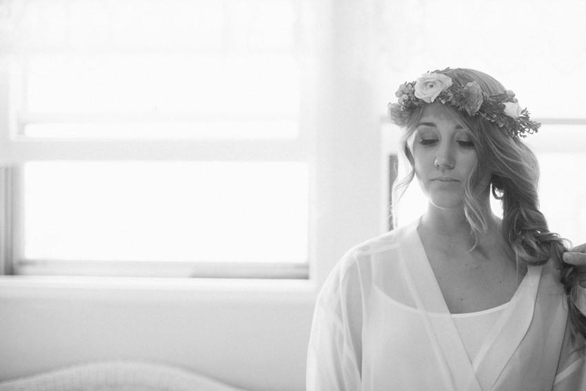 Boho Vintage Bride Getting Ready