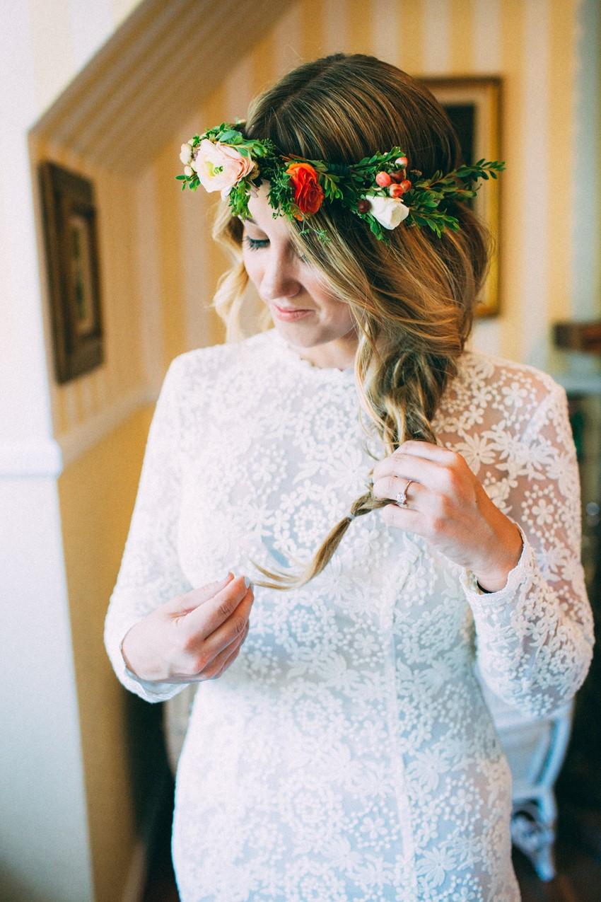 Boho Vintage Bridal Updo // Photography ~ The Darlene