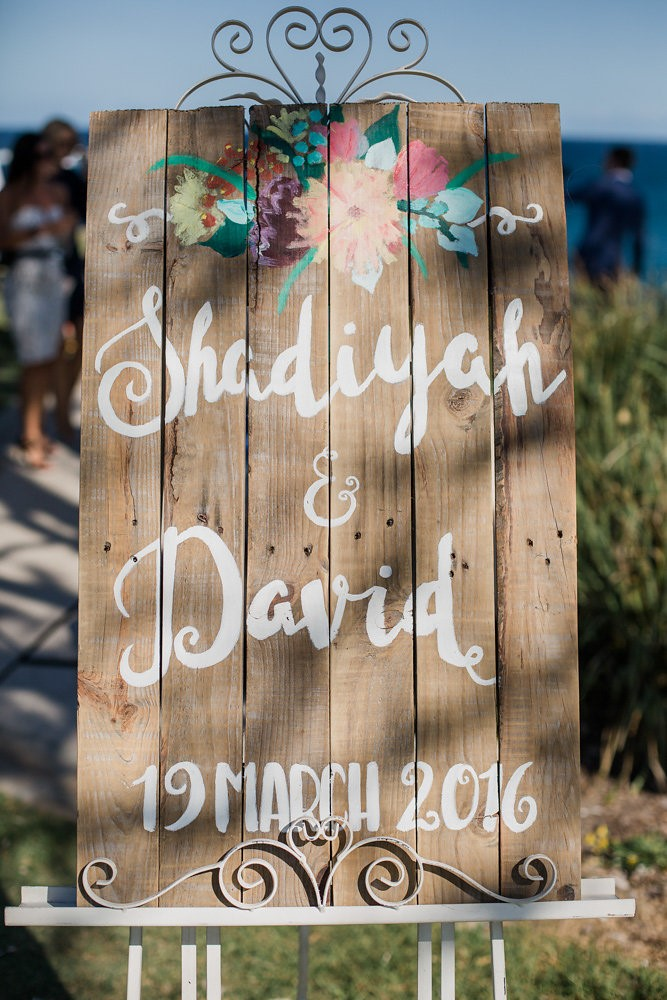 Painted Wooden Wedding Sign // Photography ~ Bless Photography